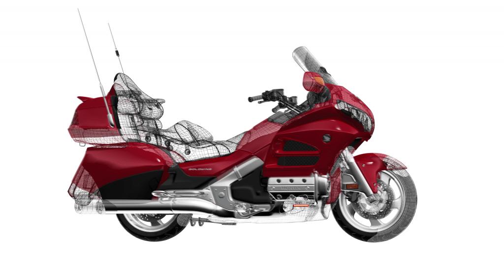 3d Honda Goldwing Motorcycle